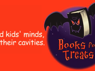 Books for Treats - an idea to give books to children on Halloween instead of candy. #BooksforTreats