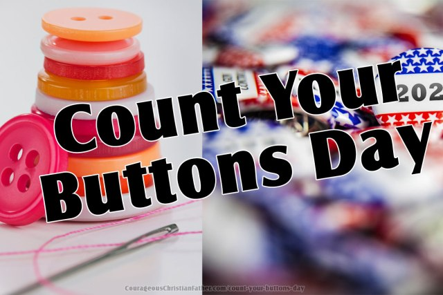 Count Your Buttons Day - Yes! You saw that right! A day to count your buttons. #CountYourButtonsDay