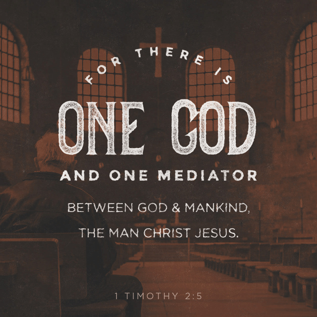 """VOTD November 22 - """"For there is one God, and one mediator also between God and men, the man Christ Jesus, who gave Himself as a ransom for all, the testimony given at the proper time."""" 1 Timothy 2:5-6 NASB"""