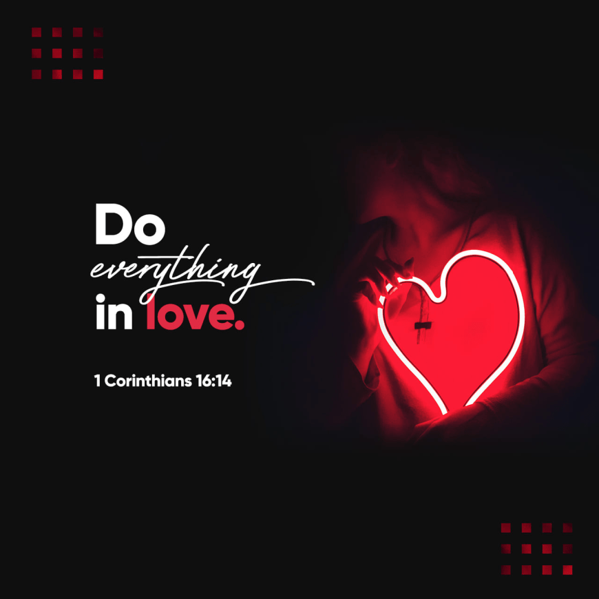 "VOTD December 2 - ""Be on the alert, stand firm in the faith, act like men, be strong. Let all that you do be done in love.""  ‭‭1 Corinthians‬ ‭16:13-14‬ ‭NASB‬‬"