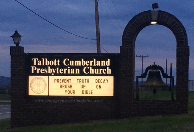 Prevent Truth Decay Brush Up On Your Bible - Talbott Cumberland Presbyterian Church - Church Sign