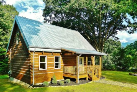 My Dream Home would be a tiny log cabin home. Maybe something similar or on the lines of this log cabin home from Log Cabins for Less.