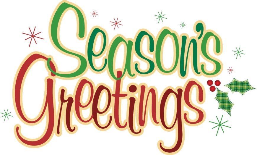Season's Greetings is another greeting you hear along with Merry Christmas, Happy Christmas or even Happy Holidays. #SeasonsGreetings