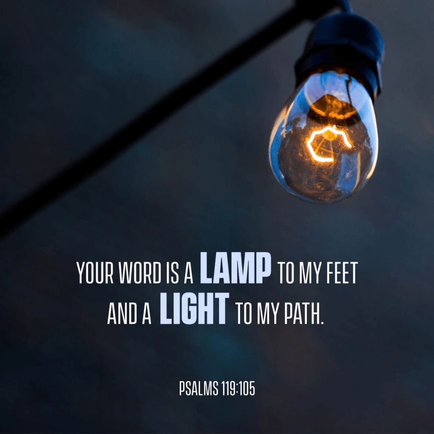 """VOTD February 16 - """"Your word is a lamp to my feet And a light to my path."""" Psalms 119:105 NASB"""