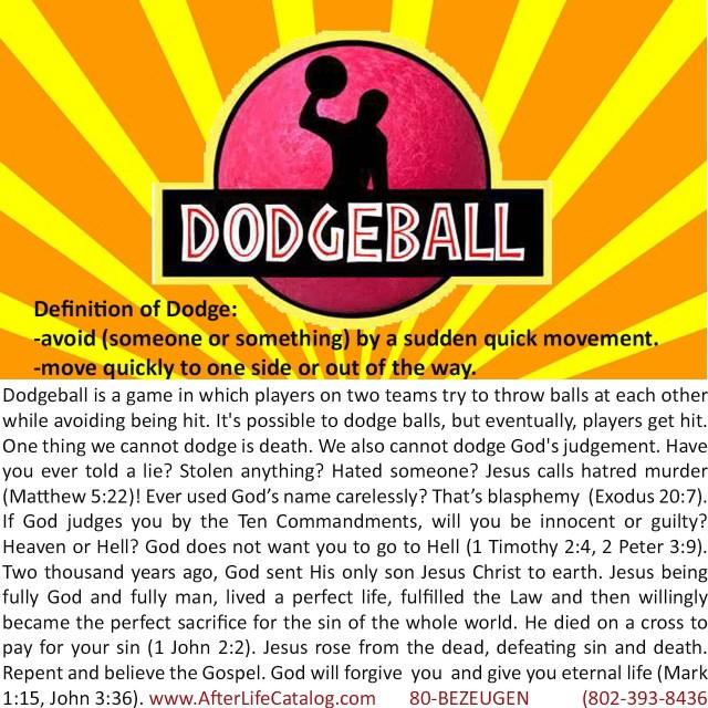 Dodgeball Gospel Tract