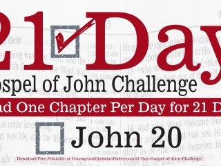 John 20 - Today is Day 20 of the 21 Day Gospel of John Challenge. Today read the 20th Chapter of the Gospel of John. #John20 #BGBG2