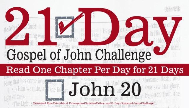 John 20 - Today is Day 20 of the 21 Day Gospel of John Challenge. Today read the 20th Chapter of the Gospel of John. #John20 #BGBG2