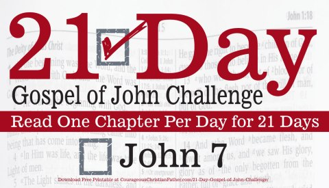 John 7 - Today is Day 7 of the 21 Day Gospel of John Challenge. Today read the seventh chapter of John. #John7