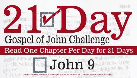 John 9 - Today is Day 9 of the 21 Day Gospel of John Challenge. So read chapter nine of the Gospel of John. #John9 #BGBG2
