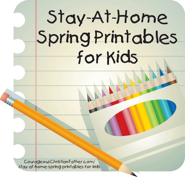 Stay-At-Home Spring Printables for Kids - Here are some free printables for your children to do while they are staying at home. #Printables #FreePrintables