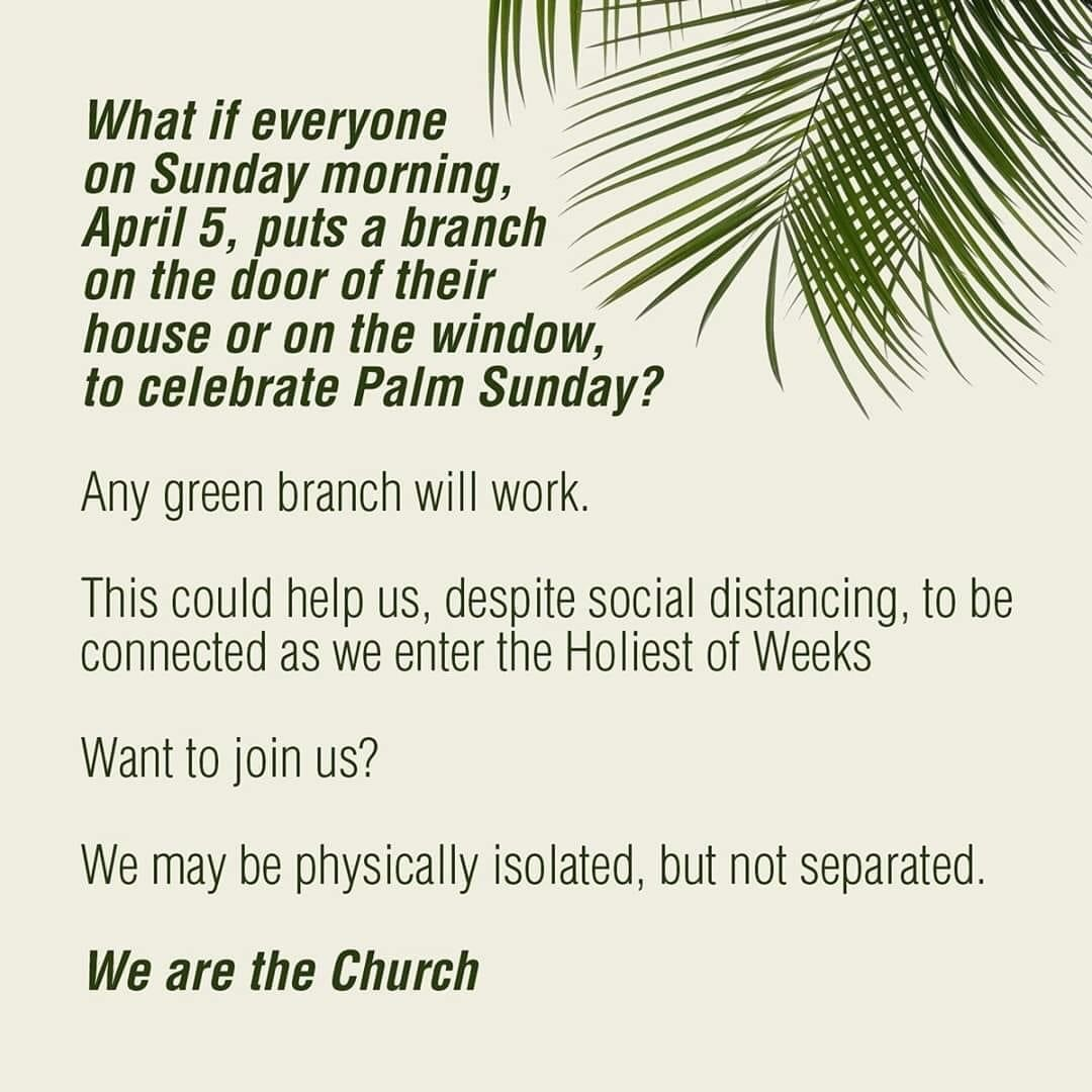 Green Branch On Your Door for Palm Sunday