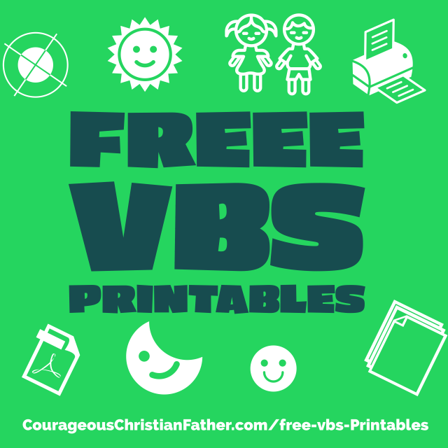 FREE VBS Printables - With virtual VBS, At-Home VBS, VBS in a box, and normally physical VBS, here are some FREE VBS Printables to use for your Vacation Bible School.