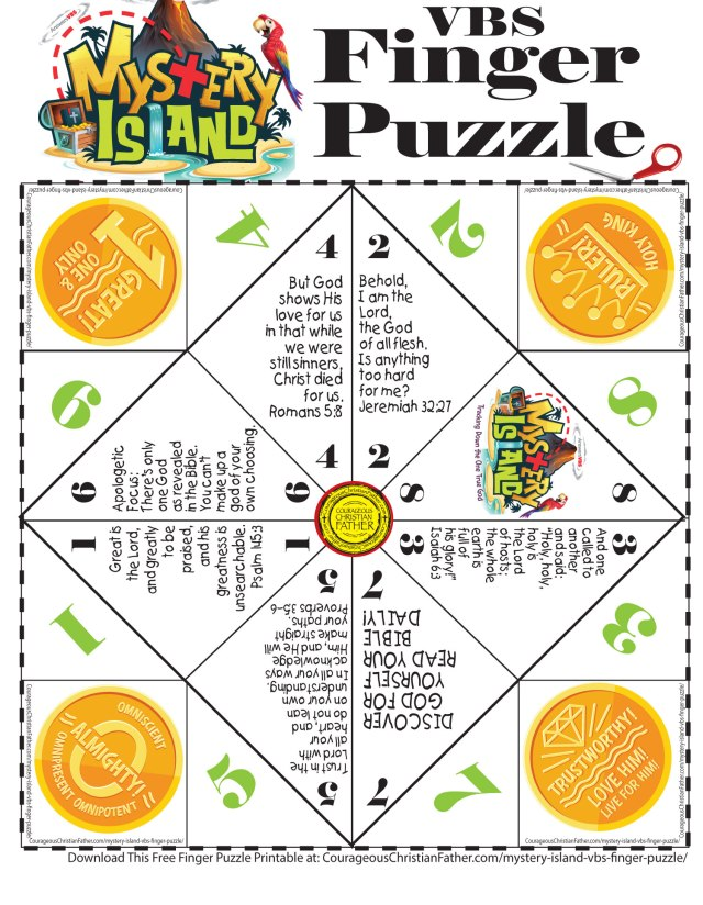 Mystery Island VBS Finger Puzzle