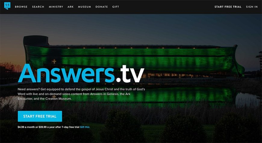 Screenshot of Answers.tv landing page - Answers.tv, available now, is a state-of-the-art video streaming platform that initially offers over 1,000 videos and live programming, available virtually anywhere in the world. #AnswersTV