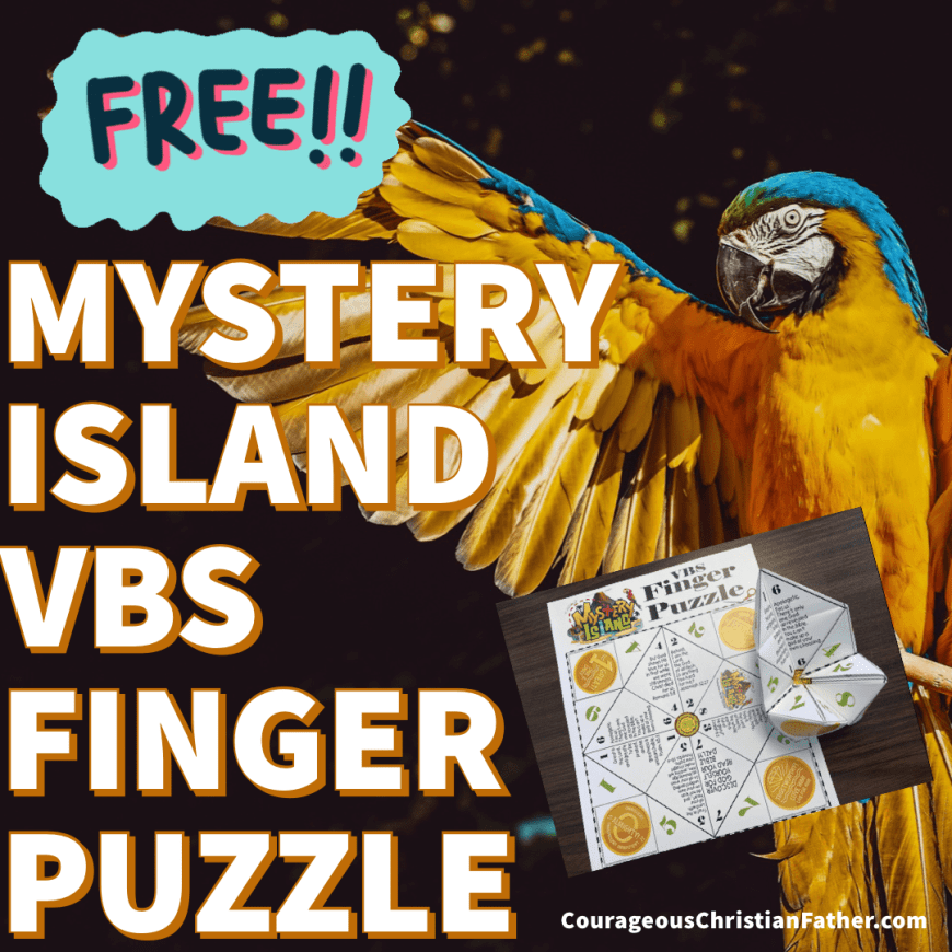 Mystery Island VBS Finger Puzzle - This FREE printable is for the Mystery Island Vacation Bible School theme from Answers in Genesis. #MysteryIsland #VBSPrintable