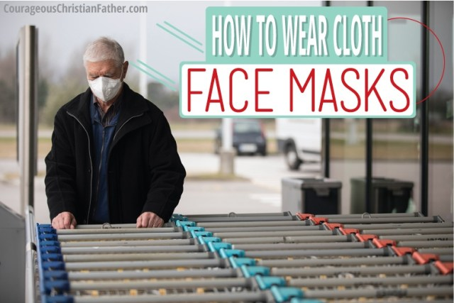 How to wear cloth face mask - In recognition that the notion of wearing face coverings while in public is foreign to many people, the CDC issued instructions on how to wear such coverings to ensure they provide as much protection as possible. #FaceMask