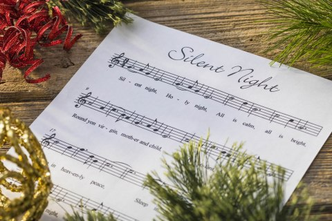 "Christmas Carol Spotlight: Silent Night - The history of and lyrics to ""Silent Night."" #SilentNight"