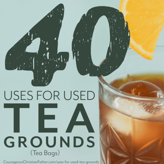 40 Uses for Used Tea Grounds (Tea Bags) - Not sure what to do with the Tea grounds after making some tea, sweet tea or even hot tea? Check out this list of what you can do with leftover Tea grounds. #Tea #TeaGrounds #TeaBags