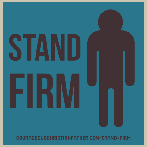 Stand Firm - The Bible does tell us in many places to firmly stand. We must have a solid foundation to be able to stand firm. #StandFirm #BGBG2 #Bible