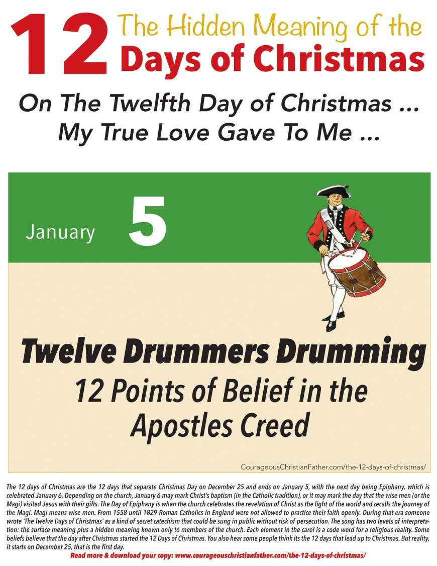 12th Day of Christmas Hidden Meaning Printable