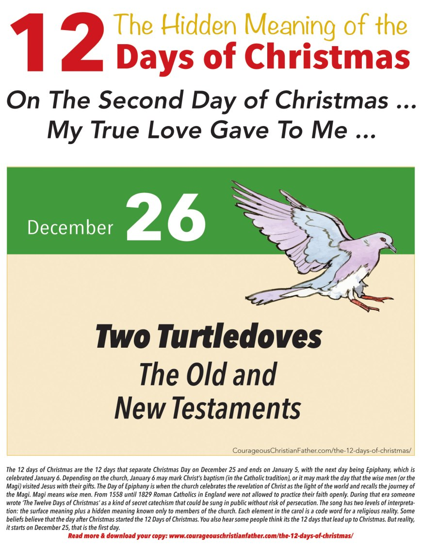 2nd Day of Christmas Hidden Meaning Printable