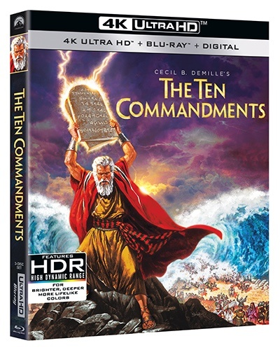 The Ten Commandments movie Celebrating its 65th anniversary - Renowned director Cecil B. DeMille's 1956 epic THE TEN COMMANDMENTS arrives in spectacular 4K Ultra HD for the first time on March 30, 2021 from Paramount Home Entertainment. #TenCommandments #TheTenCommandments