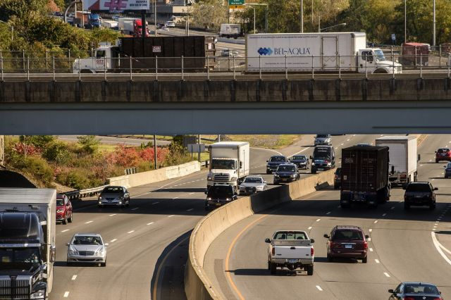 Traffic converges on I95 in Norwalk.