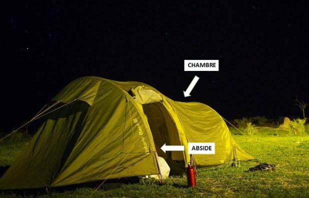 Abside et chambre de la tente