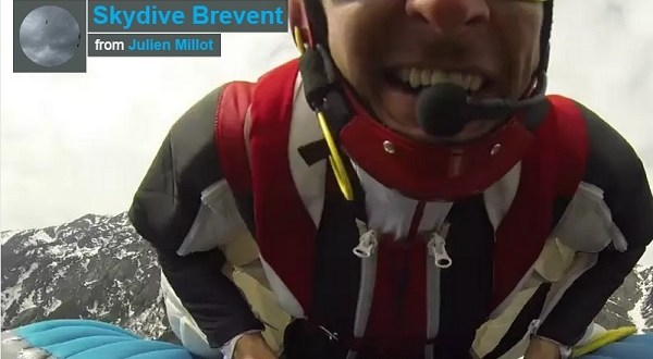 Saut en base jump flying frenchies