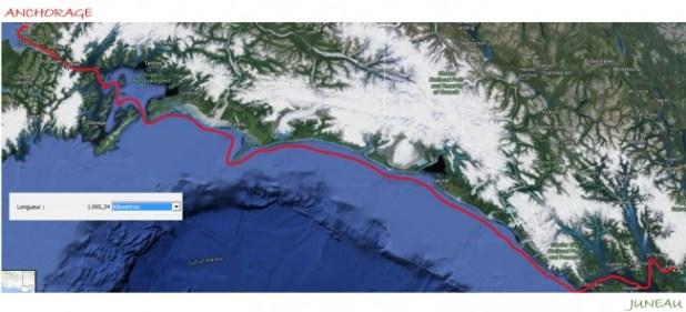 maps juneau anchorage trajet kayak