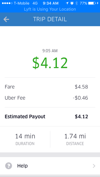 How much do you make with UberEats