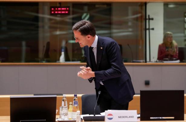 Le Premier ministre néerlandais Mark Rutte, à Bruxelles, le 21 juillet 2020. Stephanie Lecocq/Pool via REUTERS