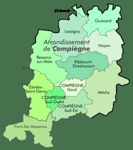 Zone cours particuliers à domicile à Compiègne