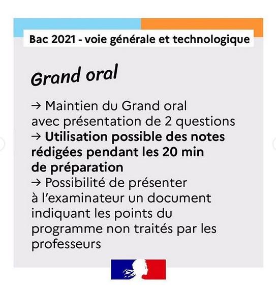 Grand oral Bac 2021