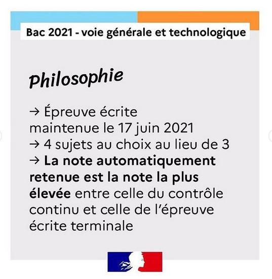 Philosophie Bac 2021