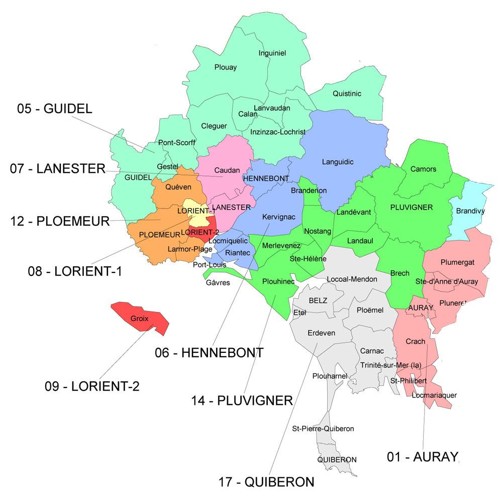 Zone des Cours à Domicile Lorient