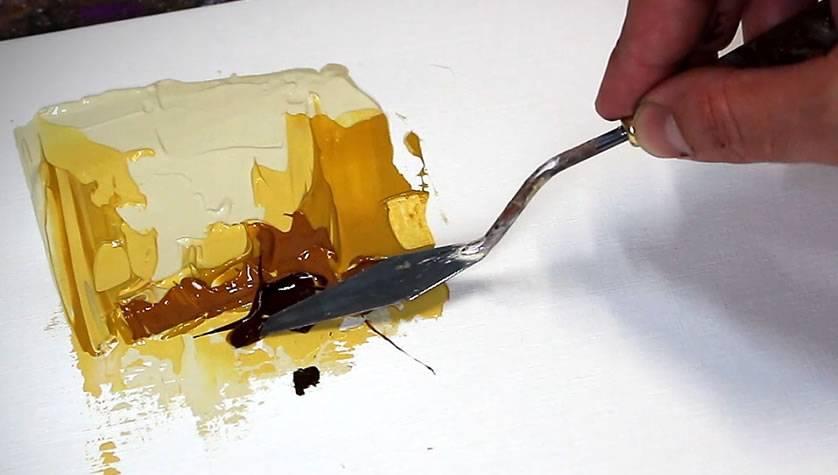 comment faire de la peinture au couteau