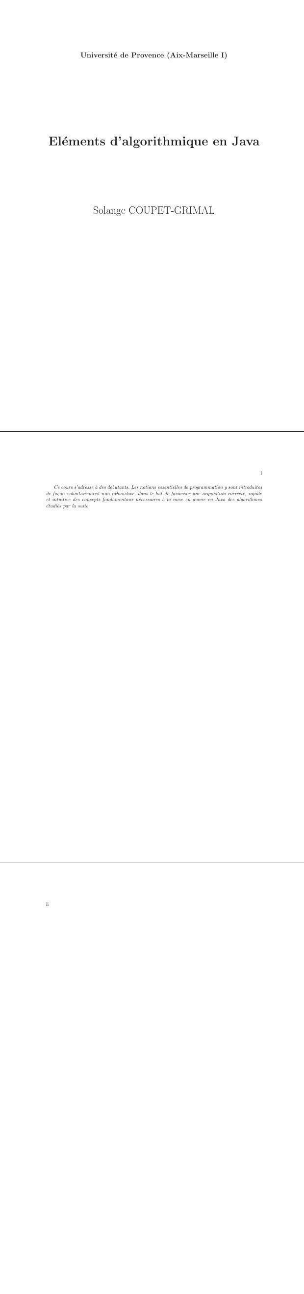 pdf elements d algorithmique en java