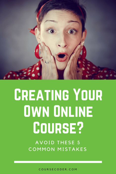 How to Create an online course 5 Common Mistakes