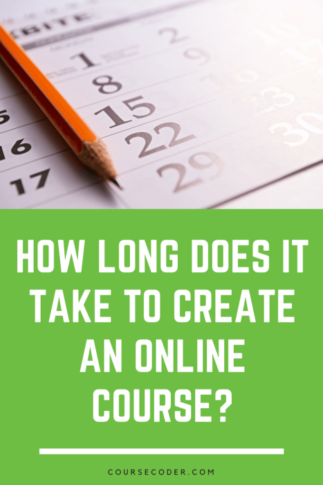 how long does it take to create an online course