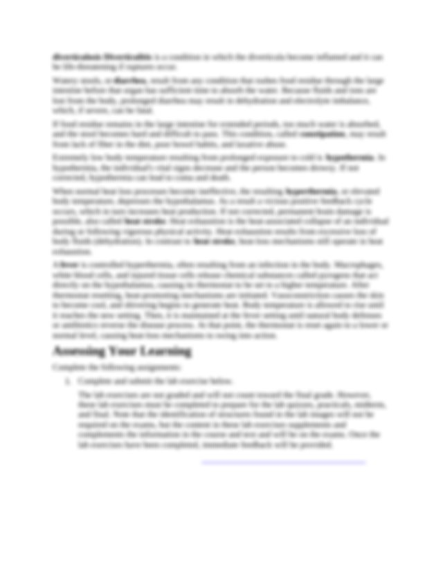 Complete Lab Exercise 25 Functional Anatomy of the ...