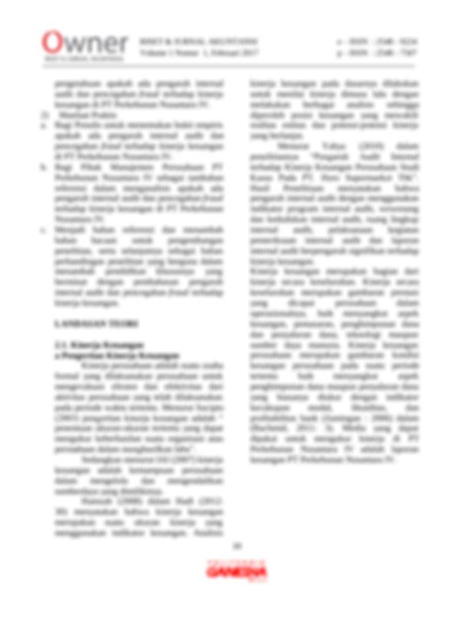 Bagian penerbitan sekolah tinggi ilmu ekonomi. b Manfaat Kinerja Keuangan Menurut Mulyadi 2001416