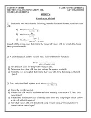 Elc327 Homework Sheet6 Root Locus