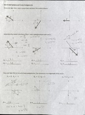 Component Vector Worksheet Answers