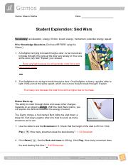 Sled Wars Gizmo Activity B Answers : Kepler S Laws Gizmo ...