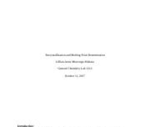6 Pages Recrystallization And Melting Point Determination Docx