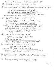 Redox Balancing Equations Worksheet