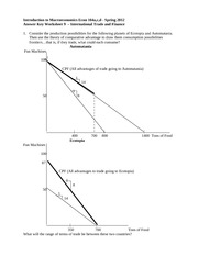 Worksheet 8 Answer Key Supply Side Unemployment