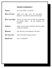 Apparts Worksheet 2 Filled With Blanks