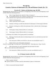 Inheritance Inheritance Worksheet